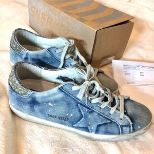 Denim GGDB sneakers size 39 with box and packaging